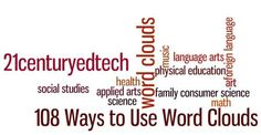 108 Ways to Use Word Clouds in the Classroom…Word Clouds in Education Series: Part 2   21 st Century Educational Technology and Learning