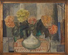 JULIE DE HOLMBERG KROHN KURSK, RUSSIA 1882 - OSLO 1956  Floral  Oil on canvas, 80x100 cm  Signed lower right: J. de H. Krohn Oslo, Illustration, Oil On Canvas, Russia, Floral, Painting, Artists, Women, Flowers