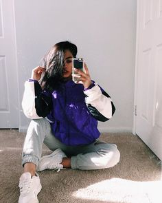 This jacket is just @too90s ! Had to snap that pic real quick ( excuse the dusty mirror )