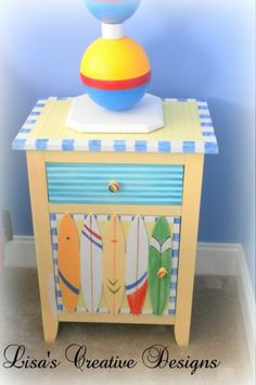 Art  Function with Beach Furniture Painted Dressers Chests