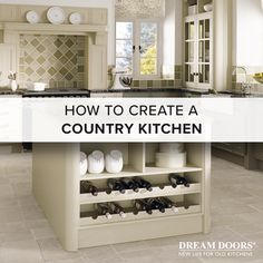 To create a timeless country style kitchen, you need the perfect ingredients of style, colour, materials, and finishing touches. Old Kitchen, Country Kitchen, Kitchen Inspiration, Creative Inspiration, Kitchen Styling, Country Style, Shoe Rack, Doors, Create