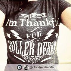 SO thankful for roller derby! #bloodandthunder #rollerderby #sothankful #repost