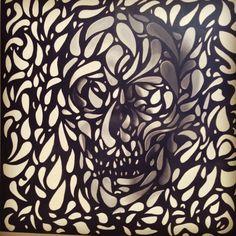 sacred life sacred death hi rez Hi Rez, Tribal Tattoos, Death, Painting, Life, Painting Art, Paintings, Painted Canvas
