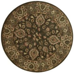 This beautiful Handmade Tufted Round rug is approximately 4x4 New Contemporary area rug from our large collection of handmade area rugs with Persian style from India with Wool pile.