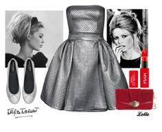 Brigitte Bardot by lellelelle on Polyvore featuring Brigitte Bardot, Yves Saint Laurent, Bardot, Saint Tropez and Lancel