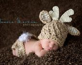 Baby Deer Hat Hunting Hat ALL sizes from Newborn  to Adult. $19.00, via Etsy.