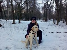 My sister and our dog Lara in the park
