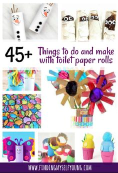 Finding Myself Young: DIY Games, Toys and Crafts to make from Toilet Paper Rolls. Perfect activities to entertain kids at home. Summer Crafts For Kids, Diy Projects For Kids, Crafts For Boys, Crafts To Make, Spring Crafts, Toilet Roll Craft, Cardboard Box Crafts, Toilet Paper Roll Crafts, Cardboard Tubes