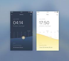 Mobile, app, dark, bright, minimalism, typographic,