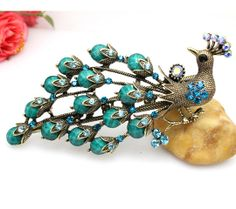 Retro Style Peacock Hairpins hair Jewelry