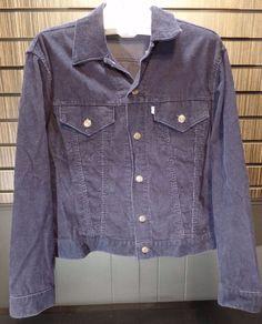 7cdc5f93a16e Levi s Vintage 70s White Tab Blue Corduroy 2 pocket trucker jacket Size 44  large  Levis  BasicJacket