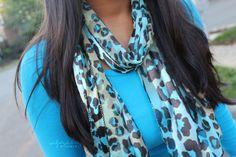 Blue && leopard,