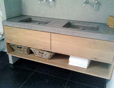 eiken badmadmeubel betonlook