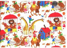 Gail by Timeless Treasures novelty circus print.