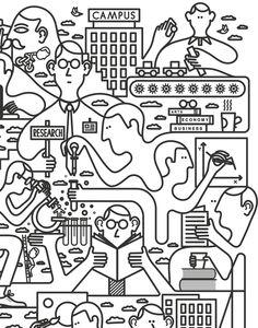 Harvard mag-Pompidou-Jazz festival and many more line on Behance #Illustration