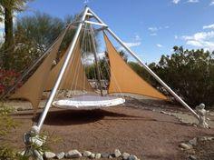 outdoor floating bed hammock