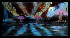 Venus Rain Shares New Painting Venus Rain shared this painting of an alien landscape. It again exemplifies her style with clean lines high levels of detail with vibrant colors against a dark background. View this new Venus Rain Painting Alien Landscape byVenus Rain Click the image to view the media