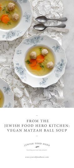 It just wouldn't be Pesach without matzah ball soup (and Matzah Tater Tots, recipe here) This modern version includes a mineral-rich broth and light vegan matzo balls. Complete this recipe in three easy steps: Preparing…