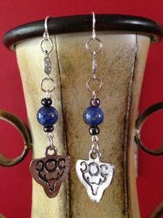 Goddess Diana Silver Pentagram Lapis Lazuli by Eldwenne on Etsy, $15.00