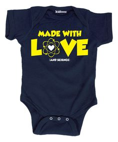Look what I found on #zulily! Navy 'Made With Love and Science' Bodysuit - Infant #zulilyfinds