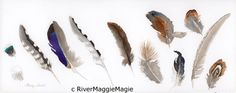 Feathers by RiverMaggieMagic on Etsy, $80.00