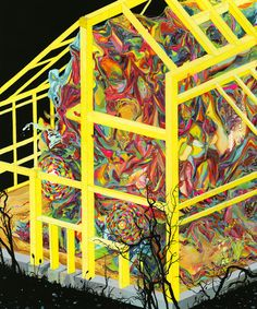 Jacob Magraw-Mickelson. One of his best works. I love how the color restlessly swirls in the confines of the geometric construction.