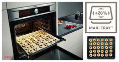 Hornea más galletas en cada ocasión con los #hornos #MaxiKlasse™ y su bandeja #MaxiTray™, un 20% más grande que las estándar. #futurodelacocina