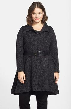 NIC+ZOE 'Windfall Twirl' Long Jacket (Plus Size) - Love the color and shape of this long jacket- hides the flaws ! Winter Mode Outfits, Winter Fashion Outfits, Curvy Plus Size, Plus Size Girls, Plus Size Fall Fashion, Plus Fashion, Women's Fashion, Long Coat Outfit, Nordstrom Jackets