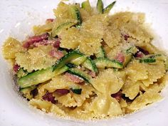 Pasta w/ Zucchini and Bacon