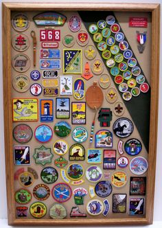 Shadowbox Display for Eagle Scouts Custom Framing by Karen's Detail Custom Frames