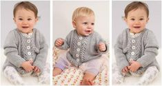 Baby Lace Knitted Cardigan [FREE Knitting Pattern]