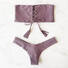 $10.68 - Cool Brazilian Bandage Bikini Set Summer Women Strapless Bikini Push-up Monokini Swimsuit Swimwear Triangle Bathing Suit Beachwear - Buy it Now!