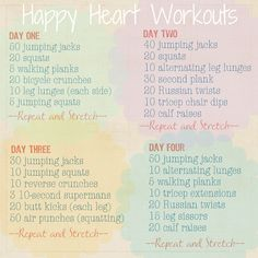 My 10-Minute workouts