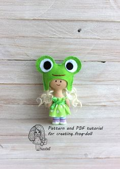 Pattern and PDF tutorial for creating frog doll,doll sewing pattern,softie pattern, doll sewing pattern,easy doll pattern by NatsDoll on Etsy https://www.etsy.com/listing/221821676/pattern-and-pdf-tutorial-for-creating