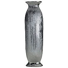 image of Elements 18-1/2-Inch Silver Scratched Ceramic Vase