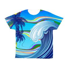 Sea Ocean big Wave Water Kid's All Over Print T-Shirts By -  http://www.cafepress.com/dianeclancy/9854969?aid=419378