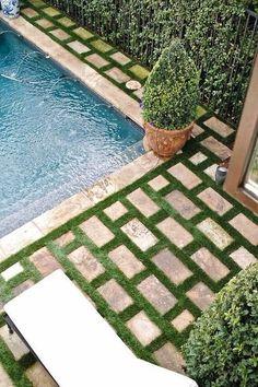 summer poolside