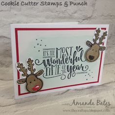 The Craft Spa - Stampin' Up! UK independent demonstrator - Order Stampin Up in UK: Wonderful Reindeer Time of Year. Homemade Christmas Cards, Stampin Up Christmas, Christmas Cards To Make, Xmas Cards, Christmas Art, Handmade Christmas, Homemade Cards, Holiday Cards, Christmas 2019