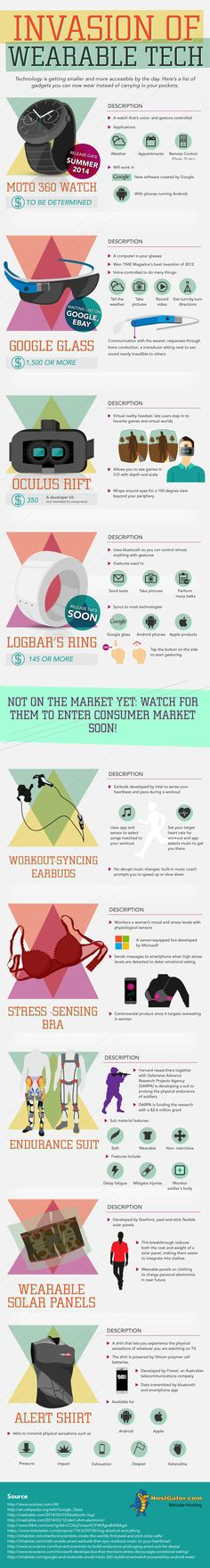 Invasion of Wearable Tech  #WearableTech #Technology | #infographics repinned by @Piktochart