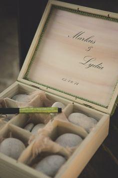 Beach Wedding in Kiotari Rhodes » GoldenApple, Weddings in Greece #wishbox with stones #wishbook