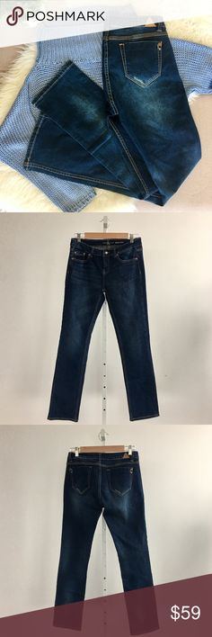 """Bianco Boot Cut Jeans Dark Wash Brand new with tags dark rinse boot cut jeans. This Jean is a nice style with a slim fit. Inseam 30"""", Front Rise 10"""", Back Rise 13"""". Please carefully review each photo before purchase as they are the best descriptors of the item. My price is firm. No trades. First come, first served. Thank you! :) Bianco Jeans Jeans Boot Cut"""