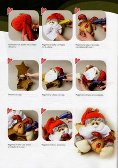 Muñecos soft navidad 2015 - Revistas de manualidades Gratis Crafts To Do, Easter Crafts, Baby Shoes, Xmas, Christmas Ideas, Teddy Bear, Clowns, Carousel, Google