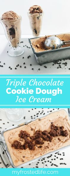 Have you ever wanted to add more chocolate to your… Dark Chocolate Ice Cream, Triple Chocolate Cookies, Chocolate Cookie Dough, Chocolate Heaven, Frozen Desserts, Frozen Treats, Easy Desserts, Delicious Desserts, Best Dessert Recipes