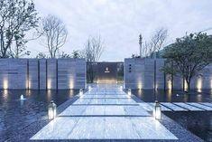 Entrance Design, Entrance Gates, Fence Design, Chinese Architecture, Concept Architecture, Landscape Architecture, Lanscape Design, Minimalist Landscape, Boundary Walls