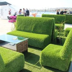 This would be so comfortable & smell nice too. Grass covered furniture from afrevents.com