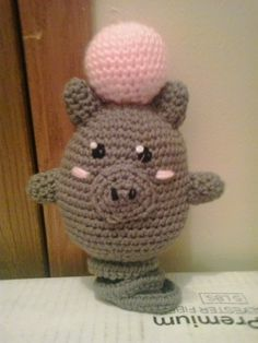"""Spoink is the next Pokemon on my daughter's VERY long """"To Do"""" list. Spoink was one of the easiest to make. This pattern includes the col..."""