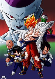 Dragonball Z:The Frieza Saga Dragon Ball Z, Dbz Wallpapers, Saga, Film D'animation, Z Arts, Son Goku, Anime Art, Digimon, Cartoon