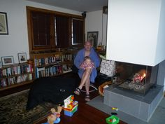 Unwrapping xmas presents in front of the fire...Blythist of Times