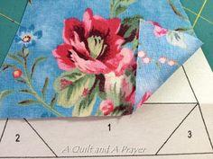 Ватное одеяло и Молитва: DWM: Учебник-Fussy Cut Paper-присучивания