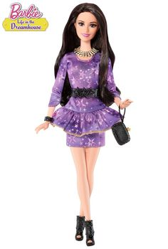 Style and attitude! The Barbie™ Life in the Dreamhouse Talkin' Raquelle® Doll brings the sassy character to play time as seen in the Barbie web series!